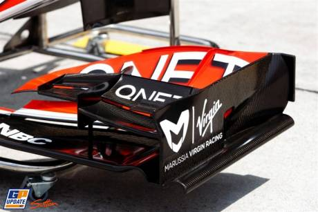 Detail of front wing Virgin MVR-02