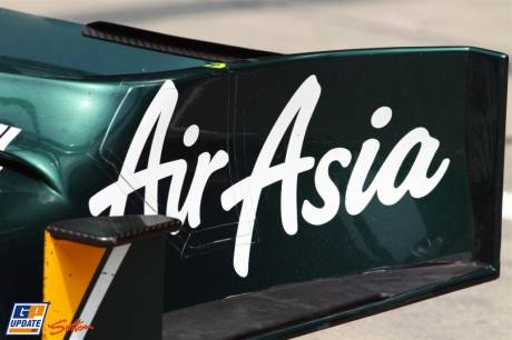 Detail of Front Wing Endplate; Team Lotus T128