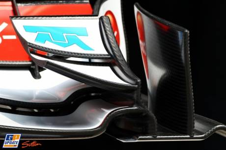 Detail of Front Wing Endplate; Sauber C30