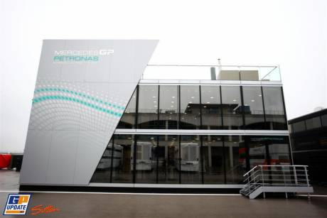The Mercedes GP Petronas Motorhome