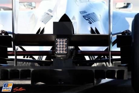Diffuser for the Mercedes GP F1 Team MGP W02
