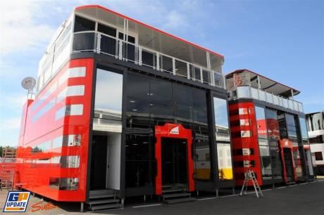 The Scuderia Ferrari Motorhome