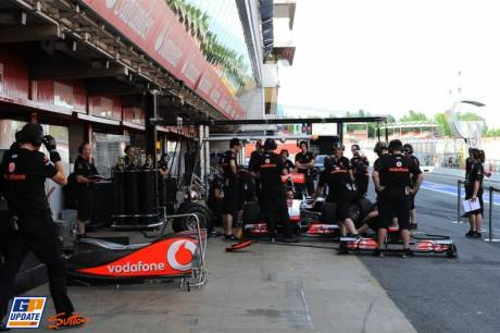 Pit Stop Excercise for McLaren Mercedes