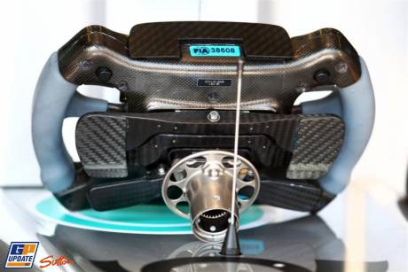 Steering Wheel of the Mercedes GP F1 Team MGP W02