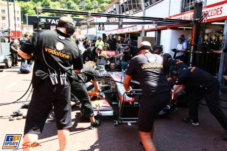 Pitstop practice for McLaren Mercedes