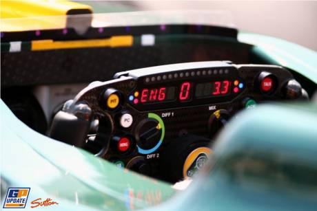 Steering Wheel of the Team Lotus T128