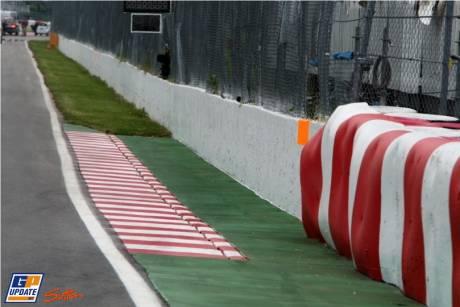 The main straight on Circuit Gilles Villeneuve