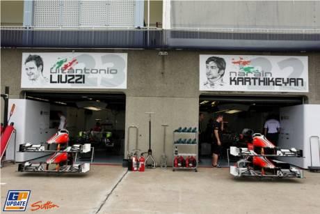The Pitlane and Hispania Racing F1 Team