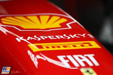 Detail of the Scuderia Ferrari Italia 150