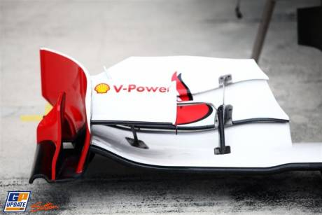 Front Wing Endplate for the Scuderia Ferrari Italia 150