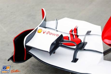 Front Wing End Plate of the Scuderia Ferrari 150 Italia