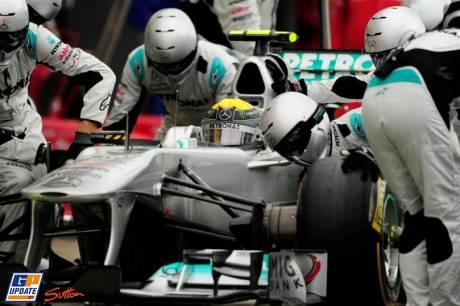 Nico Rosberg, Mercedes GP F1 Team, MGP W02, Pit Stop