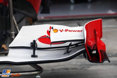 The Front Wing End Plate for the Scuderia Ferrari Italia 150