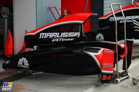 The Engine Cover for the Marussia Virgin Racing MVR-02