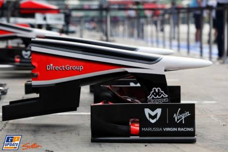 The Front Wing for the Marussia Virgin Racing MVR-02