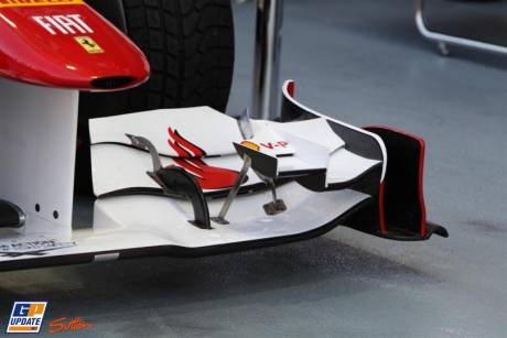 A detail of the Front Wing of the Scuderia Ferrari Italia 150