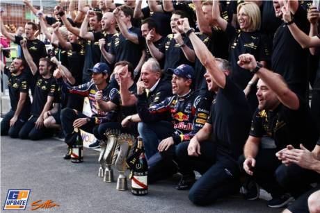 Red Bull Racing celebrating their win of the Constructor's Championship Formula 1 2011