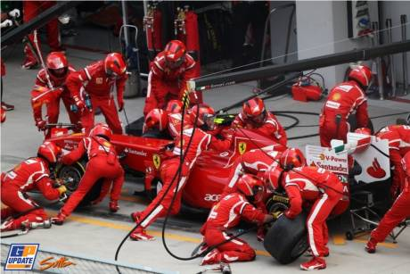 Pit Stop for Scuderia Ferrari, Italia 150