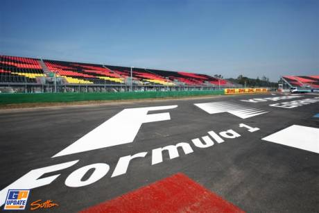 The Official Formula 1 Logo on the Circuit