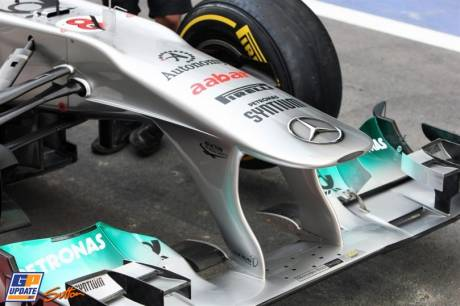 Front Wing for the Mercedes GP F1 Team MGP W02