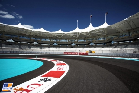 A corner of the Yas Marina Circuit