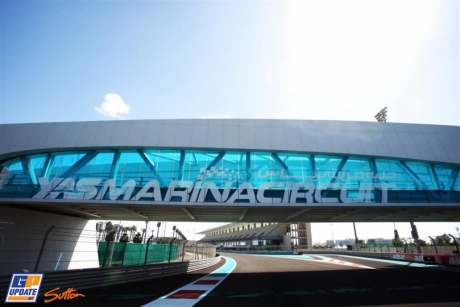 The Pit Entrance of the Yas Marina Circuit