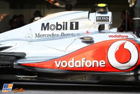 The McLaren Mercedes MP4-26