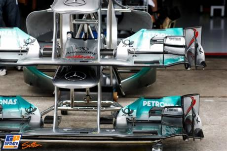 Front Wings for the Mercedes GP F1 Team MGP W02