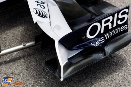 A Detail of the Front Wing Endplate for the Williams F1 Team FW33