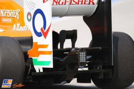 Diffuser for the Force India F1 Team VJM05