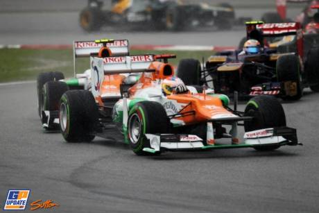 Paul di Resta and Nico Hülkenberg (Force India F1 Team, VJM05)