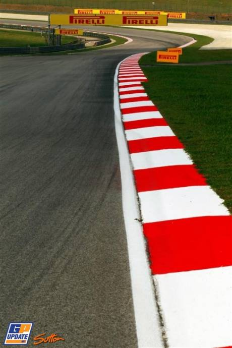 A Corner on the Sepang International Circuit