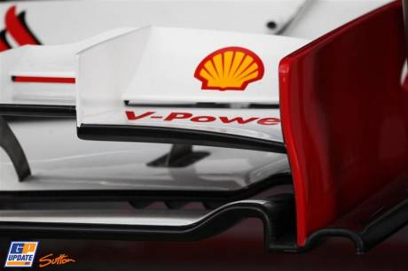 Detail of the Front Wing for the Scuderia Ferrari F2012