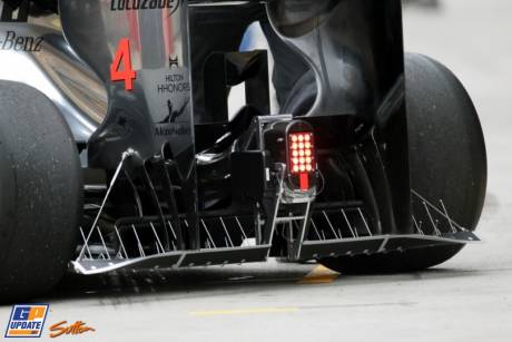 The temporary Diffuser for the McLaren Mercedes MP4-27