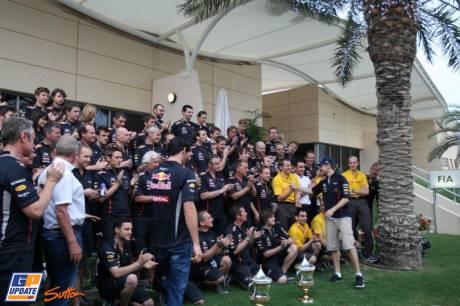 Red Bull Racing Celebrating the Victory for Sebastian Vettel