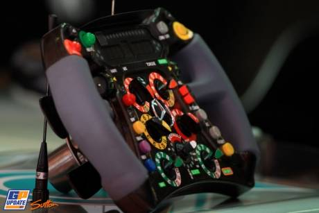 The Steering Wheel for the Mercedes AMG F1 Team W03