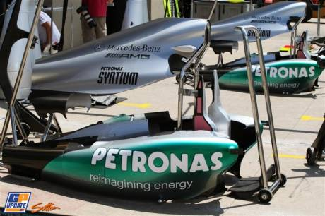 Body Work for the Mercedes AMG F1 Team W03