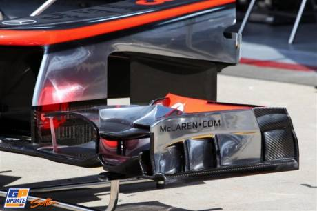 Detail of the Front Wing for the McLaren Mercedes MP4-27