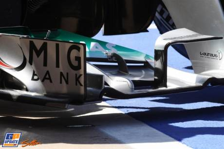 Detail of the Mercedes AMG F1 Team W03
