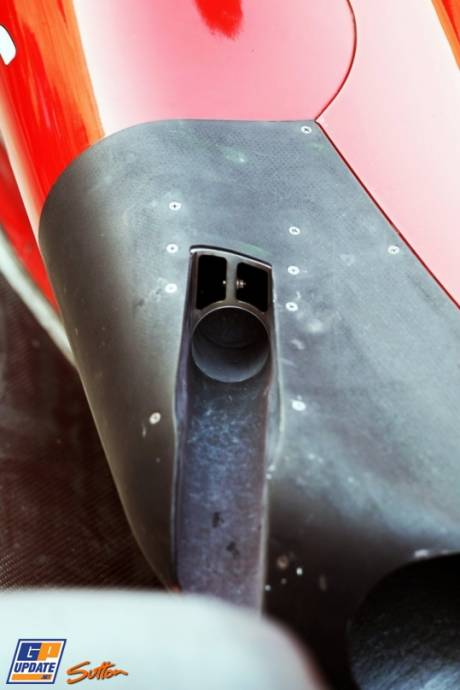 Detail of the Scuderia Ferrari F2012