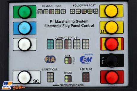 The F1 Marshalling System, Electronic Flag Panel Controle