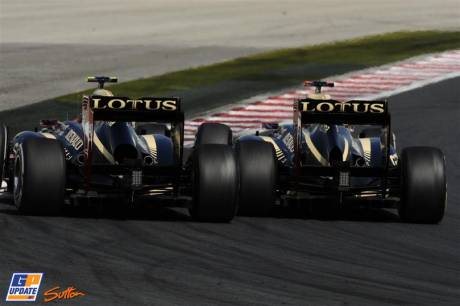 Kimi Raikkonen and Romain Grosjean, Lotus F1 Team, E20