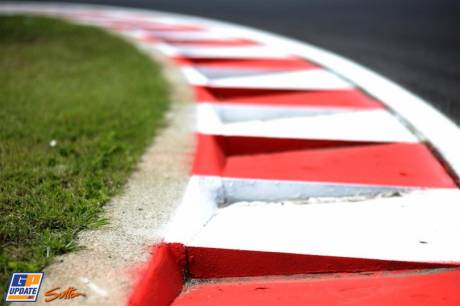 Curb Stones on a Corner on the Circuit