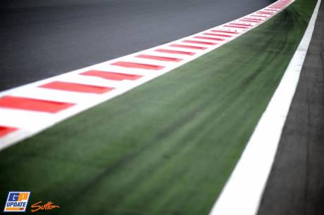 Curb Stones on a Straight on the Circuit