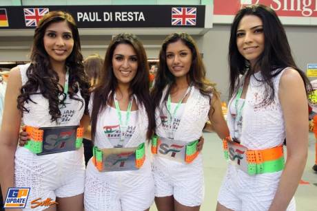 The Sahara Force India Girls