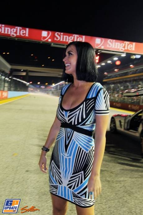 Katy Perry on the Starting Grid