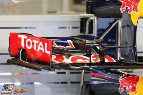 Detail of the Front Wing End Plate for the Red Bull Racing RB8