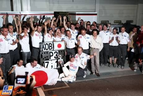 Sauber F1 Team Celebrating The Third Place for Kamui Kobayashi