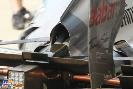 Diffuser for the Mercedes AMG F1 Team, W03
