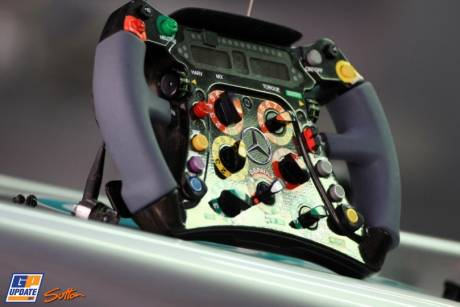 Steering Wheel for the Mercedes AMG F1 Team, W03